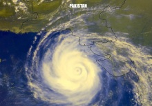 Cyclone 2A going through rapid intensification after landfall over Pakistan