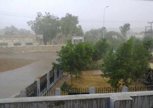 Monsoon rain on June 13 in Mithi