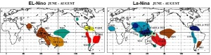 El-Nino and La-Nina in the month of June till September