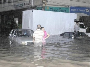 Karachi flooded during 2009