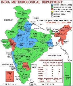 All India rainfall 2011 issued by the IMD