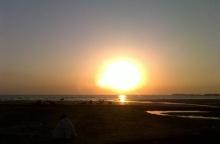 Karachi's sunset during the winter season