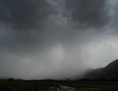 Rainfall in Oman on April 18, 2012