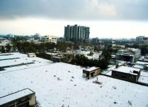 Lahore hailstorm in February 2011