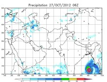 Strong weather system near Malay Penninsula