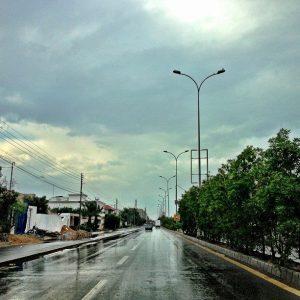 Outburst of rain in Karachi in December 2012