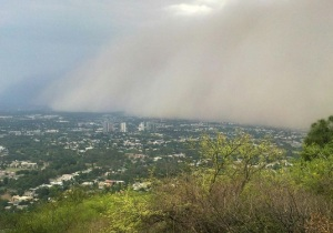 A massive dust storms hits Islamabad in 2011