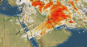Western disturbance '18' is over Middle East