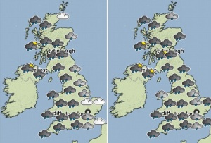 Courtesy Daily Mirror - Conditions on Monday and Tuesday