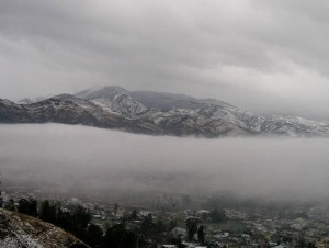 Whitened Abbottabad after snow