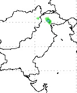 Isolated heavy downpour possible (shown in green)