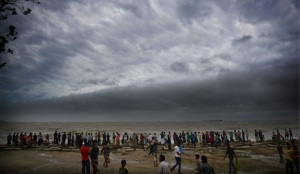 Clouds of Mahasen over Chittagong beach