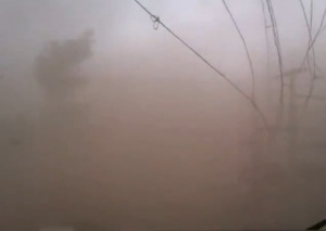 Fierce windstorm in Peshawar