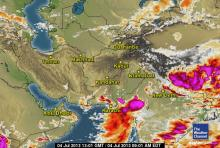 Thunderclouds near Sindh on July 4