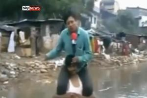 Flood-victims are not for sitting!