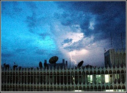 Karachi's thunderstorm in August 2006