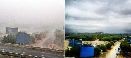 During Storm and After Storm - Courtesy Twitter
