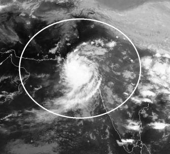 Low pressure over Gujarat on September 26