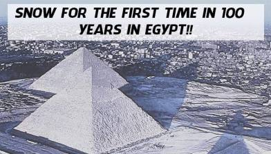 Pyramids in Snow? No, its a filtered image