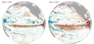 Pre El-Nino: May 1997 and May 2014