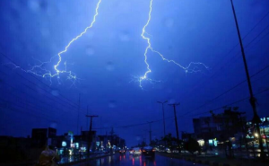 Lightning over the skies of Lahore on May 13