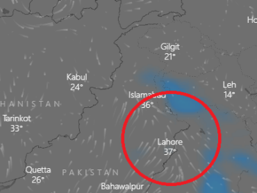 Strong easterly winds to penetrate NE Punjab soon